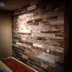 Pallet Wall Wood Plank Walls, Timber Walls, Pallet Walls, Wood Planks, Wooden Walls, Wall Wood, Palettes Murales, Wood Bedroom, Living Room Flooring