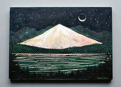 mountain glow original by CathyMcMurray on Etsy, $72.00