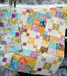 Rocky Road quilt pattern by Sweet Jane's, fabric by Kate Spain | by sweetjanequilting