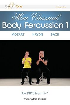 """Body Percussion accompaniment for """"KV 1c"""" (Mozart), """"Minuet No. 12 in F major"""" (Haydn) and """"Musette in D major"""" (Bach) The download includes sheet music, 6 video clips showing the final results, and 6 piano playalongs (original tempo and practice tempo). Body Percussion, Piano, Music Lessons For Kids, Circle Game, Teaching Music, Video Clip, Sheet Music, Challenges, Digital"""