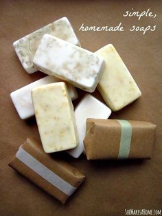 Homemade Soaps | 28 Gifts To Make When You're Broke cheap christmas gifts, make money for christmas #christmass #gift