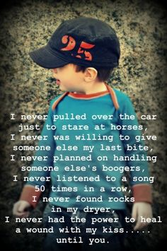 Have to add this to their shutterfly books...So true...except the horses would be tractors/diggers/etc