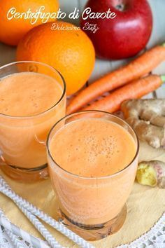 rezepte zum abnehmen vegan Centrifugato di Carote, Arancia e Zenzero Vegan Breakfast Smoothie, Vegan Smoothies, Breakfast Cake, Smoothie Recipes, Green Smoothies, Morning Breakfast, Shake Recipes, Detox Drinks, Healthy Drinks