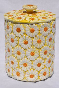Vintage Yellow Daisy Cookie Jar 1960s by Aligras on Etsy   SOLD