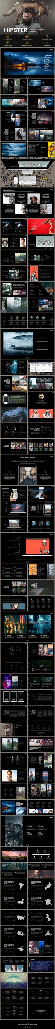 Hipster - Keynote Presentation Template - 97 Unique Slides