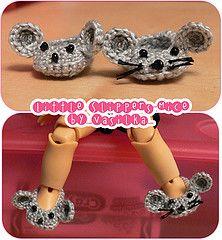 pequeños ratones-zapatillas (_vasilka_) Etiquetas: muñeca hecha a mano ropa de ganchillo zapatillas jaime ratones