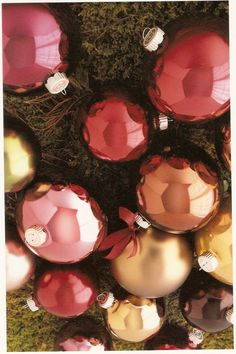 Martha Stewart Everyday Holiday, Christmas ornaments pink, red, orange, magenta
