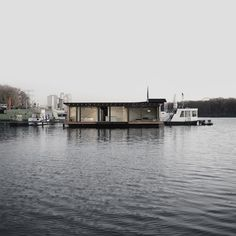 A Modern Houseboat In Berlin Boats Sons And House - Modern custom houseboat graphics
