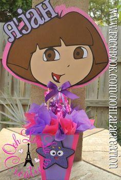 Dora centerpiece Baby first birthday ideas Pinterest