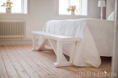 DIY bench for beginners - Happier homemaker bench | Do It Yourself Home Projects from Ana White