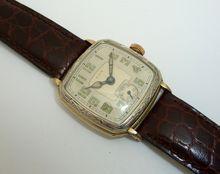 1957 lord elgin jump hour vintage men s wrist watch vintage art deco two tone mens elgin al sirat grotto wrist watch