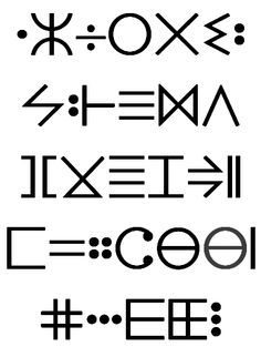 tifinagh language... the original hipster #design #typography
