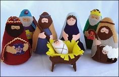 DIY nativity pattern: felt