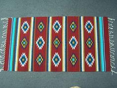 Handwoven Zapotec Rug Rustic Home Decor 30x60 100 Wool Santa FE Style Decor 06 | eBay