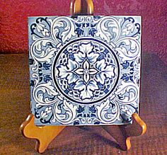 Antique Wedgwood Blue Transferware Tile