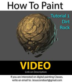 How To Paint Rock or Dirt by JesusAConde on deviantART via PinCG.com
