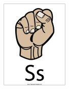 Letter S-Filled-With Label teachers printables Sign Language Letters, Simple Sign Language, Libra, Hand Signals, Encouragement, Printables, Lettering, Signs, Fictional Characters