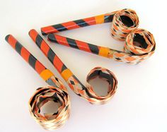 Vintage Halloween Party Blowouts Set of 4 Party by teresatudor, $12.50