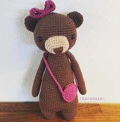 Bear by sarabreinholt. Crochet pattern by Little Bear Crochets: www.littlebearcrochets.com ❤️ #littlebearcrochets #amigurumi