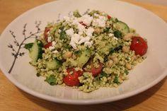 Pesto millet salad