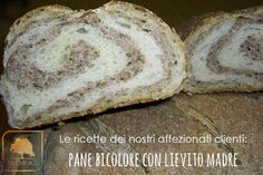 Pane bicolore con lievito madre