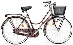 ~Just in time for Spring...Dolce & Gabbana limited edition Leopard Print Bicycle, no gears, headlights are pedal activated