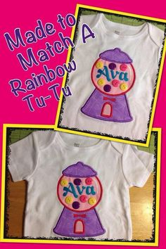Gumball applique shirt with buttons