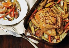 Roast Chicken with Fennel, Potatoes, and Citrus