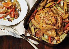 Fennel roasted chicken w potatoes via Bon appetit