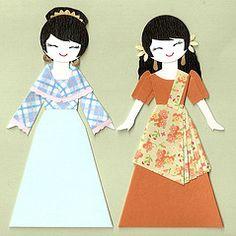 Filipino Girls by kirakirahosi inkspired musings: The Philippines Panorama Paper Doll Costume, Paper Dolls, Filipino Girl, Filipino Fashion, Filipiniana Dress, Philippines Culture, Filipino Culture, Costumes Around The World, World Thinking Day
