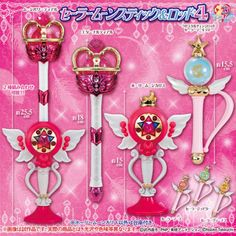 Pre Order💕Sailor Moon💕 Stick & Rod Gashapon Wands Vol 4 Set of 6 FromJapan F/S