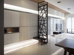 7 Cozy Apartments With Modern Interior Design Living Room Modern, Living Room Interior, Modern Interior Design, Interior Architecture, Room Partition Designs, Cozy Apartment, Home Deco, New Homes, House Design