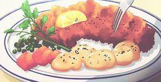 Cotoletta impanata con limone, prezzemolo, patate e carote (Go sick)