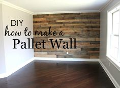 How to Build a Pallet Wall My husband and I spent a couple weekends building my dream pallet wall for our son's big boy room. Here's what we did to build a pallet wall in his room. The post How to Build a Pallet Wall appeared first on Pallet ideas. Pallet Walls, Pallet Furniture, Pallet On Wall, Wall Wood, Pallet Wall Bedroom, Diy Wooden Wall, Furniture Ideas, Pallet Nursery Ideas, Pallet Ideas For Home
