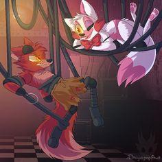 Foxy x mangle es encerio!? Que no ven la cara de disgusto de Foxy que horror