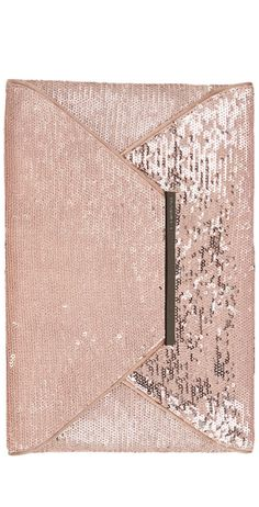 Sophisticated Style| Serafini Amelia| BCBGMAXAZRIA Harlow Sequined Envelope Clutch