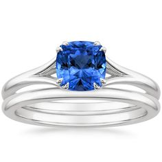 18K White Gold Sapphire Reverie Matched Set from Brilliant Earth