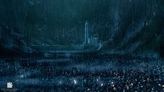 In Lord of the Rings: The Two Towers The Battle for Helm's Deep is filmed on a set enhanced by visual effects. As archeologists are yet to discover the actual ruins of the fortress the production was unable to film on location. Helms Deep, Amazing Gifs, The Two Towers, Jrr Tolkien, Dark Lord, Lord Of The Rings, Middle Earth, Lotr, Warfare