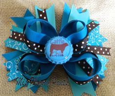 Cattle Show Cow Chic Bow by MisPhancyPants on Etsy, $10.00