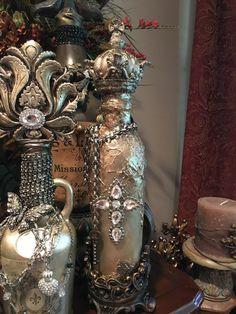 Leigh Ann Paschal Designs Aged Crown Bottle