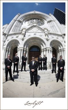 Sacred Heart Catholic Church, Wedding Ceremony, Groom and Groomsmen Limelight Photography www.stepintothelimelight.com