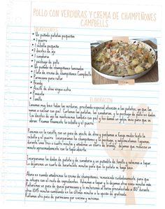 Receta de pollo con verduras y crema de champiñones Campbell's