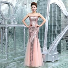 6b2f288689d3 Mermaid Evening Dresses Luxury Purple/Pink/Champagne Beaded Evening Gowns  Sexy Grace Sweetheart Long Party Gown Formal Dress-in Evening Dresses from  ...