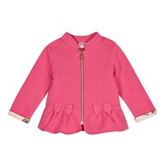 26f1c3c63 Baker by Ted Baker Babies pink quilted sweat jacket