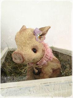 Puppenmachen - PDF SCHNITT E-BOOK Schweinchen BABE Sofortdownload - ein Designerstück von Teddy-Manufaktur bei DaWanda