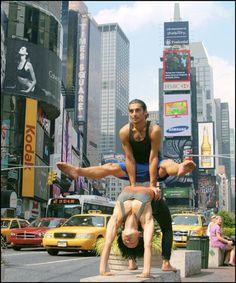 Urban Yogi NYC, Times Square #yoga