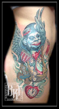 #spokane #tattoo #andrewrtrull #custom #artist #twistedraventattoo #design #neotraditional #oz #wizardofoz Neo Traditional, Future Tattoos, Wizard Of Oz, I Tattoo, Watercolor Tattoo, Artist, Design, Retro, Artists