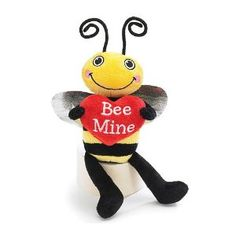 "Plush Little Valentine's Day Bumble Bee ""Bee Mine"" Stuffed Animal Gift"