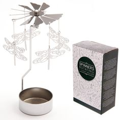 Dragonfly Design Metal Tealight SpinnerAdd magic and light to your home with these lovely tealight spinners. The design is simple, you assemble your spinner and Tea Lights, Candle Holders, Candles, Metal, Simple, Pattern, Gifts, Design, Link