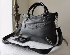 Balenciaga Giant 12 Town Bag in Black Lambskin with Silver Tone Hardware -  SOLD 68fff7b6963c8